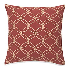 Tillery Embroidered Red Square Toss Pillow