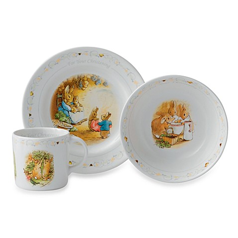 Wedgwood® Peter Rabbit 3-Piece Christening Set