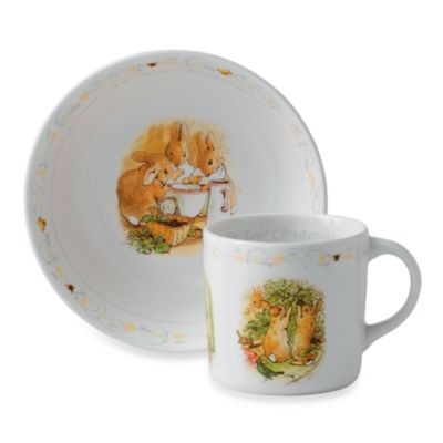 Wedgwood® Peter Rabbit 2-Piece Christening Set