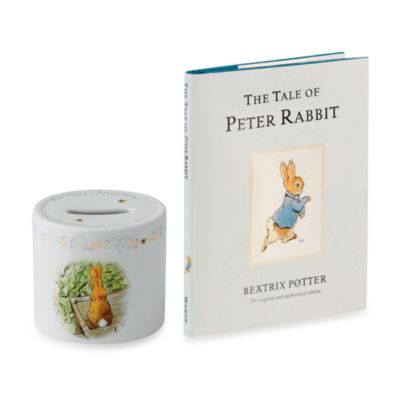 Wedgwood® Peter Rabbit Money Box & Book