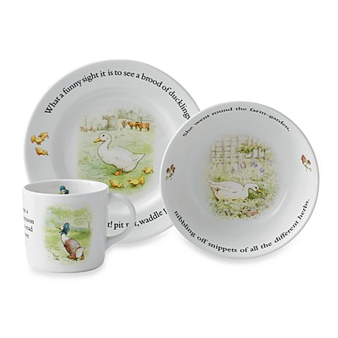 Wedgwood® Jemima 3-Piece Puddleduck Set