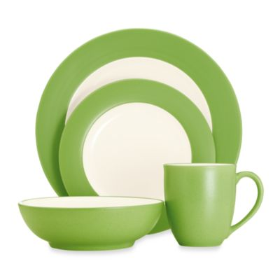 Noritake® Colorwave 4-Piece Rim Place Setting in Apple