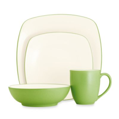 Noritake® Colorwave Square 4-Piece Place Setting in Green Apple