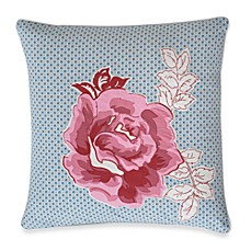 Abigail Flower Square Toss Pillow