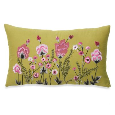 Blossom Botanical Oblong Toss Pillow