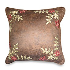 Prairie Stripe Embroidered Square Toss Pillow