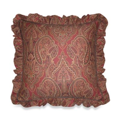 Prairie Stripe Ruffled Square Toss Pillow