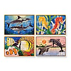 Melissa & Doug® Sea Life Puzzles in a Box (Set of 4)