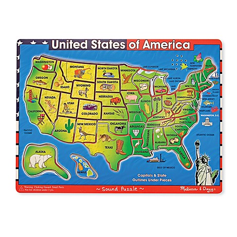 Melissa & Doug® Deluxe U.S.A. Wooden Map Puzzle with Sound