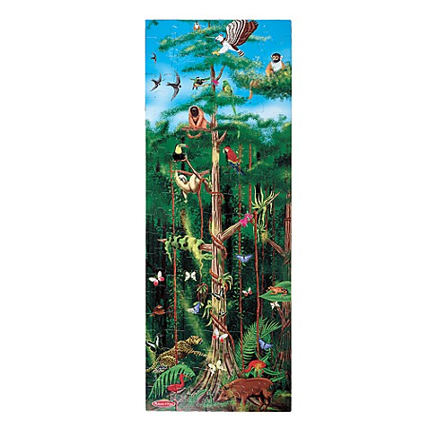 melissa doug rain forest 100 piece floor puzzle