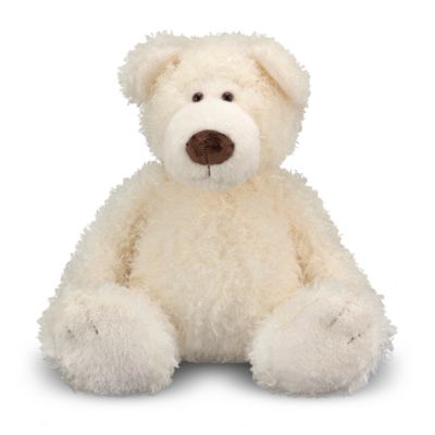 Melissa & Doug® Big Roscoe Bear Stuffed Animal in Vanilla