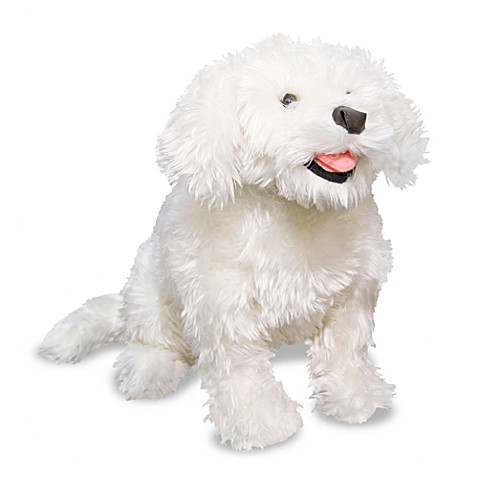 Melissa & Doug® Bichon Frise Dog Stuffed Animal