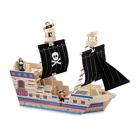Melissa & Doug® Deluxe Pirate Ship Playset