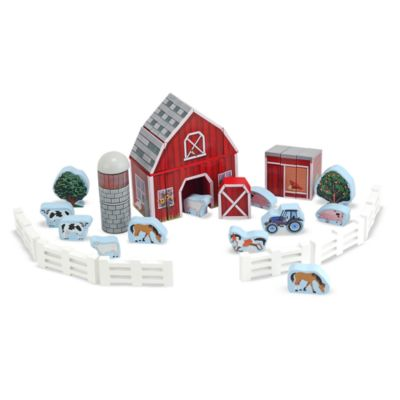 Melissa & Doug® Farm Blocks Wooden Play Set