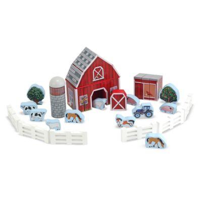 Melissa & Doug® Farm Blocks Wooden Playset
