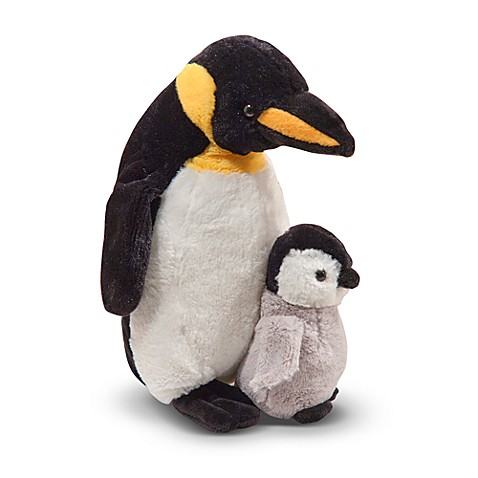Melissa & Doug® Webber Penguin with Baby Chick Stuffed Animal Pair