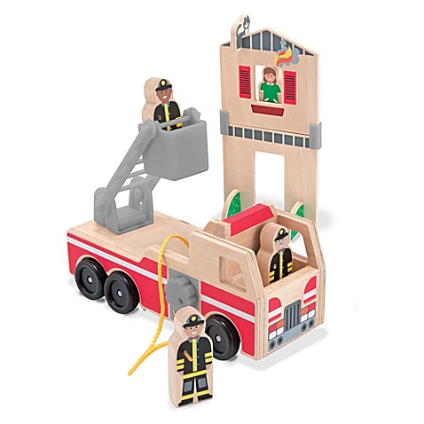 Melissa & Doug® Whittle World in Fire Rescue Playset