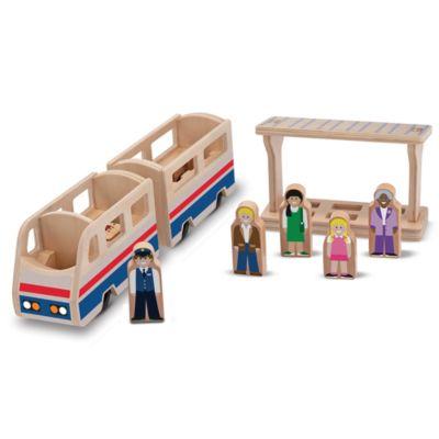Melissa & Doug® Whittle World in Train Platform Playset