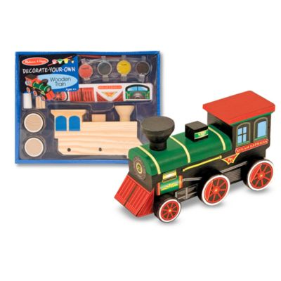 Melissa & Doug® Decorate-Your-Own Wooden Train