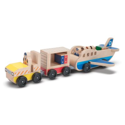 Melissa & Doug® Whittle World Plane and Luggage Carrier Set