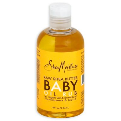 Shea Moisture Raw Shea Butter Baby Massage Oil (8-Ounces)