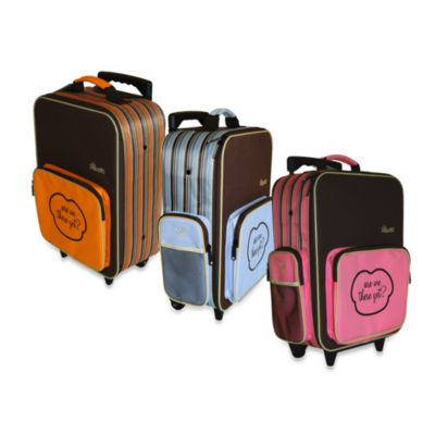 The Shrunks Mini Travel Luggage in Pink Stripe