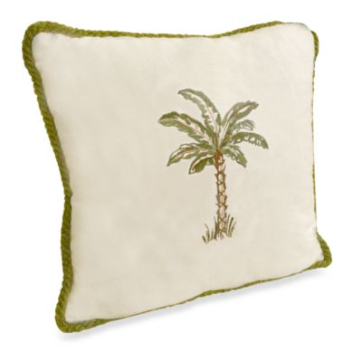 Scent-Sation® Postcard Square Palm Tree Toss Pillow