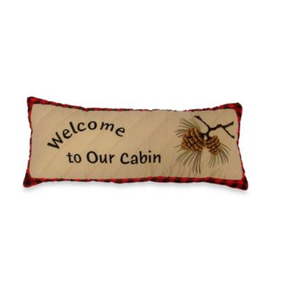 "Alpine Lodge ""Welcome To Our Cabin"" Pillow"