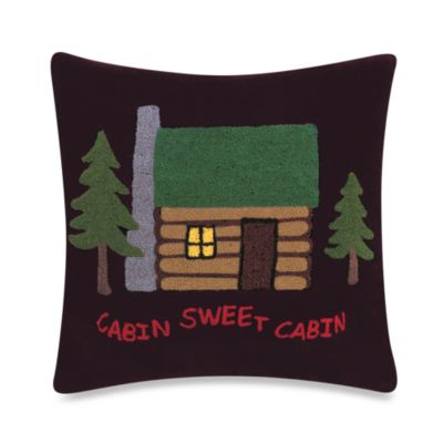 "Alpine Lodge ""Cabin Sweet Cabin"" Pillow"