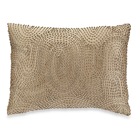 Georgette Beaded Oblong Toss Pillow