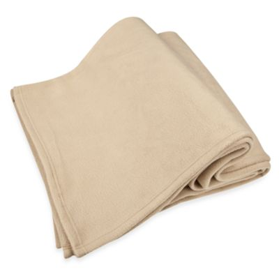 Riegel® Super-Soft Full Fleece Blanket in Tan