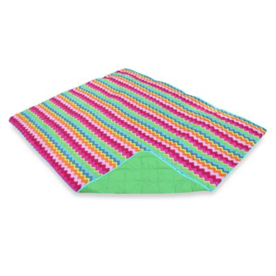 Bright Zigzag Water-RepellantIndoor/Outdoor Throw
