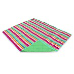 All-Weather Indoor/Outdoor Blanket in Bright Zigzag
