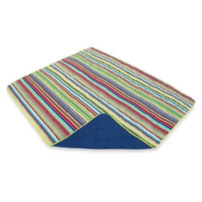 All-Weather Indoor/Outdoor Throw in Montauk Stripe