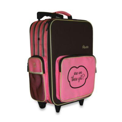 The Shrunks Mini Travel Luggage in Pink Stripe