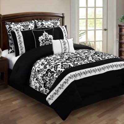 Buy Black And White Bedding Sets King From Bed Bath Amp Beyond