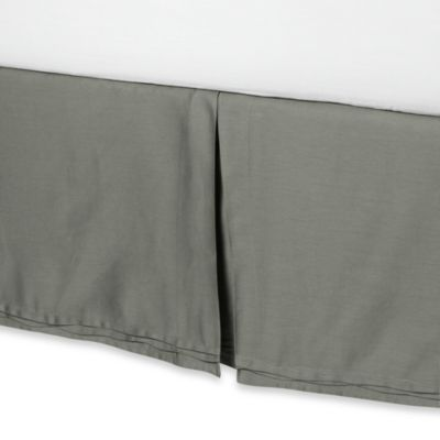Nicole Miller® Currents Bed Skirt in Green Tea