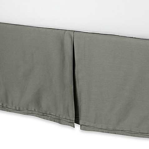 Currents Bed Skirt in Green Tea