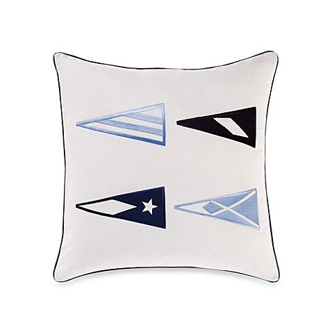 Nautica® Grand Isle Sail in g Flag Square Toss Pillow