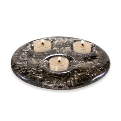 JSG Oceana Tea Light Candle Holder in Black Nickel