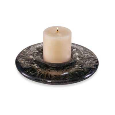 JSG Oceana 3-Inch Pillar Candle Holder in Black Nickel