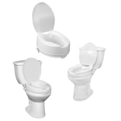 "Drive Medical Raised 4"" Toilet Seat With Lid"