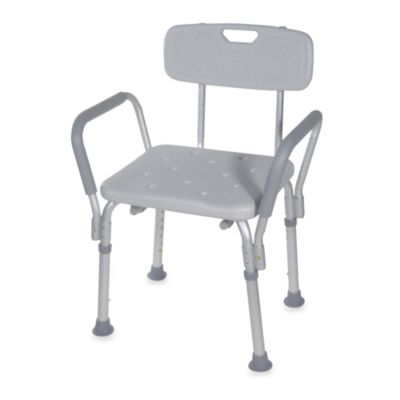 Drive Medical Bath Bench With Back And Padded Arms
