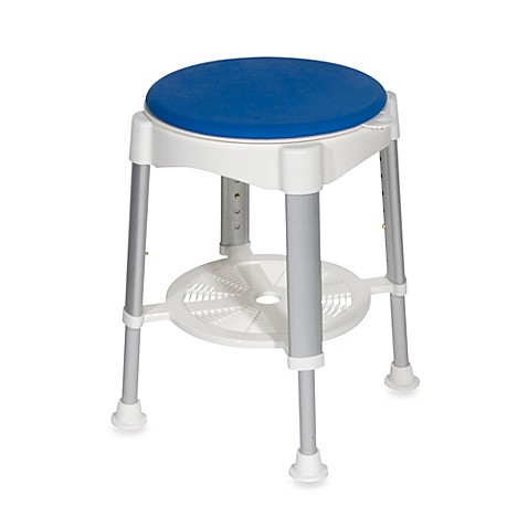 Drive Medical Bath/Shower Stool with Blue Padded Rotating Seat