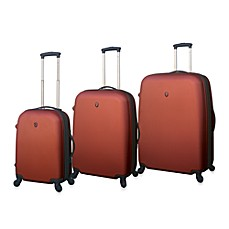 Traveler's Club Burnt Orange Hardside Expandable ABS Luggage
