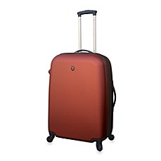 Traveler's Club Burnt Orange Hardside 24-Inch Expandable ABS