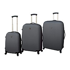 Traveler's Club Charcoal Hardside Expandable ABS Luggage