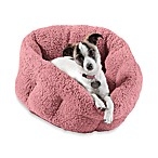 Best Friends by Sheri Deep Dish Sherpa Pet Bed in Baby Pink