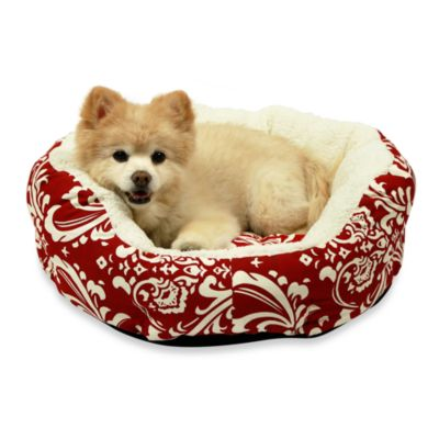 Best Friends by Sheri Duchess Cuddler Amsterdam 20-Inch Diameter Pet Bed in Red