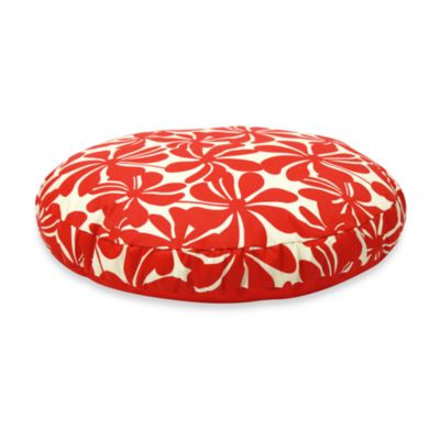 Best Friends by Sheri SunStyle Circular Medium Dog Bed in Twirly Red